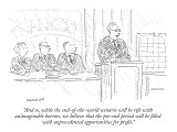 """""""And so, while the end-of-the-world scenario will be rife with unimaginabl…"""" - New Yorker Cartoon Premium Giclee Print by Robert Mankoff"""