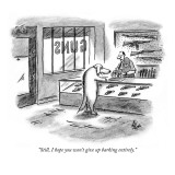 """Still, I hope you won't give up barking entirely."" - New Yorker Cartoon Premium Giclee Print by Frank Cotham"