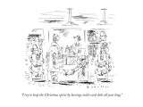 """I try to keep the Christmas spirit by having credit-card debt all year lo…"" - New Yorker Cartoon Premium Giclee Print by Barbara Smaller"