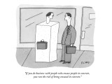 """If you do business with people who encase people in concrete, you run the…"" - New Yorker Cartoon Premium Giclee Print by Peter C. Vey"