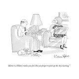 """Admit it, Hillary makes you feel like you forgot to pick up the dry clean…"" - New Yorker Cartoon Premium Giclee Print by Victoria Roberts"