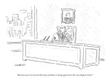 """""""And you can rest assured that your problem is being ignored at the very h…"""" - New Yorker Cartoon Premium Giclee Print by Robert Mankoff"""