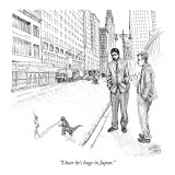 """I hear he's huge in Japan."" - New Yorker Cartoon Premium Giclee Print by Paul Noth"