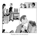 """I'm going to have to let some of you go."" - New Yorker Cartoon Premium Giclee Print by William Haefeli"