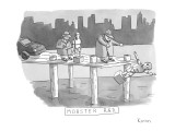 Mob guys throw crash test dummies into the river. - New Yorker Cartoon Premium Giclee Print by Zachary Kanin