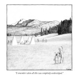 """I remember when all this was completely undeveloped."" - New Yorker Cartoon Premium Giclee Print by Matthew Diffee"