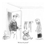 """We beat the spread!"" - New Yorker Cartoon Premium Giclee Print by Pat Byrnes"