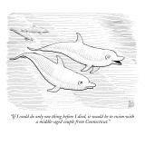 """If I could do only one thing before I died, it would be to swim with a mi…"" - New Yorker Cartoon Premium Giclee Print by Paul Noth"