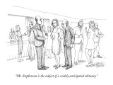 """Mr. Stephenson is the subject of a widely anticipated obituary."" - New Yorker Cartoon Premium Giclee Print by Paul Noth"