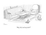 """""""Hey, kid, need any dust?"""" - New Yorker Cartoon Premium Giclee Print by Zachary Kanin"""