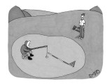 Inuit fishing on a golf green. - New Yorker Cartoon Premium Giclee Print by J.C. Duffy