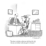 """You have to declare what you rob from the rich, but you can deduct what y…"" - New Yorker Cartoon Premium Giclee Print by Pat Byrnes"