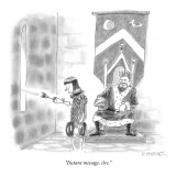 """""""Instant message, sire."""" - New Yorker Cartoon Premium Giclee Print by Pat Byrnes"""