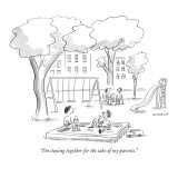 """""""I'm staying together for the sake of my parents."""" - New Yorker Cartoon Premium Giclee Print by Liza Donnelly"""