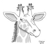 A giraffe has giraffes on its head. - New Yorker Cartoon Premium Giclee Print by Farley Katz