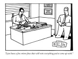 """I just have a few minor fixes that will ruin everything you've come up wi…"" - New Yorker Cartoon Premium Giclee Print by Bruce Eric Kaplan"