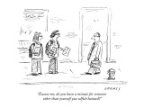 """Excuse me, do you have a minute for someone other than yourself you selfi…"" - New Yorker Cartoon Premium Giclee Print by David Sipress"