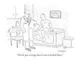 """Uh-oh, your coverage doesn't seem to include illness."" - New Yorker Cartoon Premium Giclee Print by Robert Mankoff"