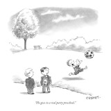 """""""He goes to a real party preschool."""" - New Yorker Cartoon Premium Giclee Print by Pat Byrnes"""