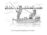 """""""Let's not spoil this by falling in love, Luther."""" - New Yorker Cartoon Premium Giclee Print by Michael Crawford"""