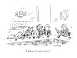 """I still say it's only a theory."" - New Yorker Cartoon Premium Giclee Print by David Sipress"