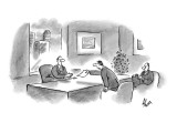 """""""I've arranged our options according to their legality."""" - New Yorker Cartoon Premium Giclee Print by Frank Cotham"""