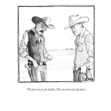 """The first six are for bullets. This one here's for lip balm."" - New Yorker Cartoon Premium Giclee Print by Matthew Diffee"