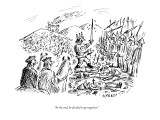 """In the end, he decided to go negative."" - New Yorker Cartoon Premium Giclee Print by David Sipress"