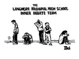 """""""The Langmore Regional High School Inner Debate Team"""" - New Yorker Cartoon Premium Giclee Print by Drew Dernavich"""