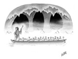 Death takes a group of turkeys through the river Styx. - New Yorker Cartoon Premium Giclee Print by Glen Le Lievre