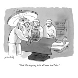 """God, this is going to be all over YouTube."" - New Yorker Cartoon Premium Giclee Print by Marshall Hopkins"