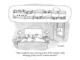 """These songbirds every morning at five A.M. would be really annoying if th…"" - New Yorker Cartoon Premium Giclee Print by Jack Ziegler"