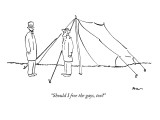 """""""Should I free the gays, too?"""" - New Yorker Cartoon Premium Giclee Print by Michael Shaw"""