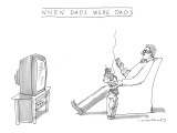 """When Dads Were Dads"" - New Yorker Cartoon Premium Giclee Print by Michael Crawford"