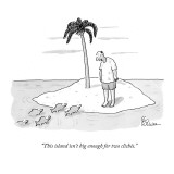 """This island isn't big enough for two clichés."" - New Yorker Cartoon Premium Giclee Print by Leo Cullum"