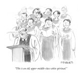 """""""This is an old, upper-middle-class white spiritual."""" - New Yorker Cartoon Premium Giclee Print by Pat Byrnes"""