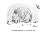 """This is really embarrassing. I've forgotten your name."" - New Yorker Cartoon Premium Giclee Print by Leo Cullum"