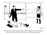"""""""Call my attorney and say that I killed Ted in self-defense. Call my publi…"""" - New Yorker Cartoon Premium Giclee Print by Alex Gregory"""