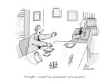 """'Is it right? ... Is it fair?' Get a grip Carlton—we're a law firm!"" - New Yorker Cartoon Premium Giclee Print by Leo Cullum"
