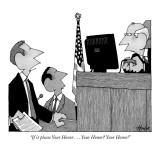 """If it please Your Honor . . . Your Honor? Your Honor!"" - New Yorker Cartoon Premium Giclee Print by William Haefeli"