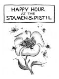 Happy hour at the stamen and pistil. - New Yorker Cartoon Premium Giclee Print by Lee Lorenz
