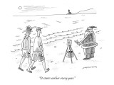 """It starts earlier every year."" - New Yorker Cartoon Premium Giclee Print by Mick Stevens"