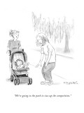 """""""We're going to the park to size up the competition."""" - New Yorker Cartoon Premium Giclee Print by Pat Byrnes"""