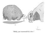 """Bobby, your mammoth kit is here."" - New Yorker Cartoon Premium Giclee Print by Zachary Kanin"