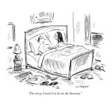 """I'm sorry, I need it to be on the Internet."" - New Yorker Cartoon Premium Giclee Print by David Sipress"