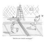 """And the score remains unchanged."" - New Yorker Cartoon Premium Giclee Print by Zachary Kanin"