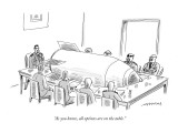 """As you know, all options are on the table."" - New Yorker Cartoon Premium Giclee Print by Mick Stevens"