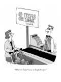 """What can I say? I was an English major."" - New Yorker Cartoon Premium Giclee Print by J.C. Duffy"