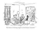 """""""Our dream is to live long enough to see the end of our renovation."""" - New Yorker Cartoon Premium Giclee Print by David Sipress"""