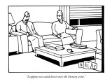 """I suppose we could burst onto the literary scene."" - New Yorker Cartoon Premium Giclee Print by Bruce Eric Kaplan"